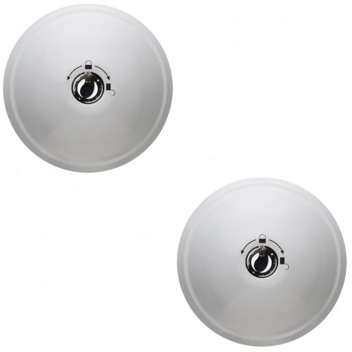 Serrure antivol utilitaire MERONI UFO3 Smart Duo couleur blanche